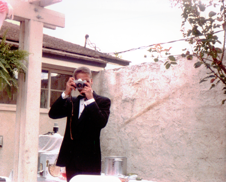 Mark Taking Pictures at Terry's Wedding