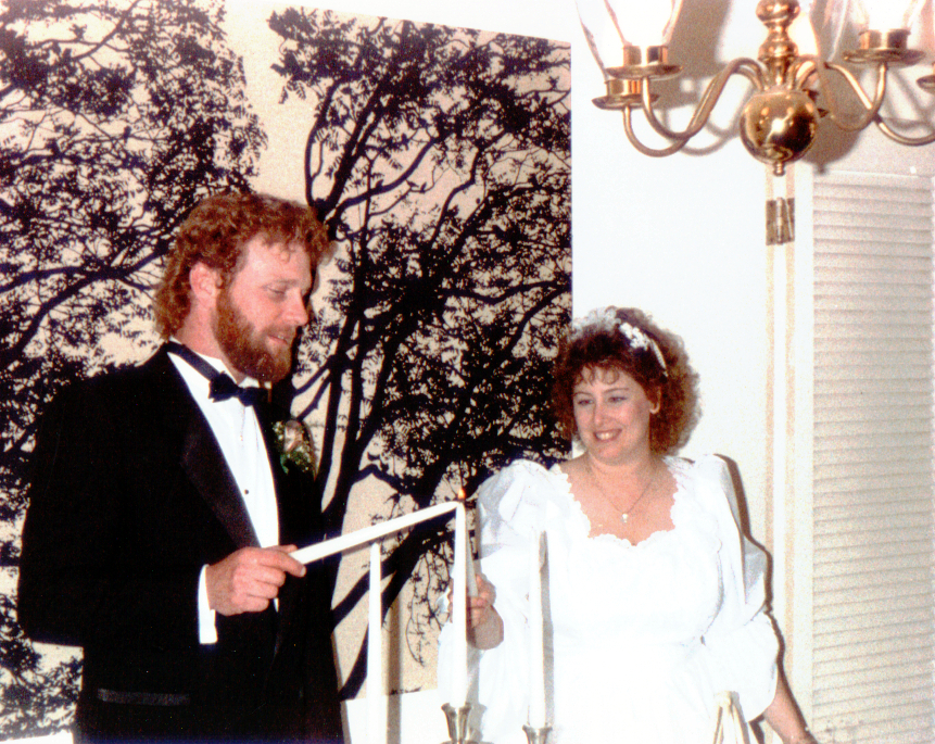Terry & Gail Lighting Candles