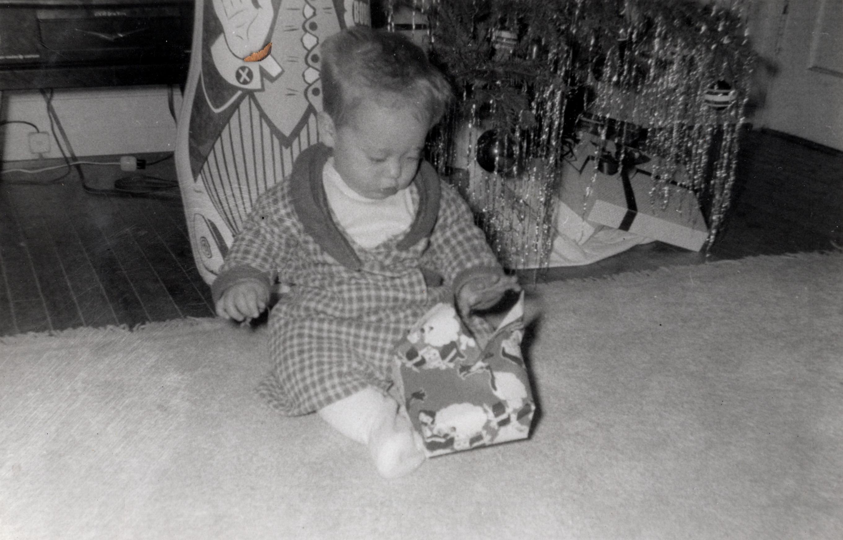 Buddy at Christmas