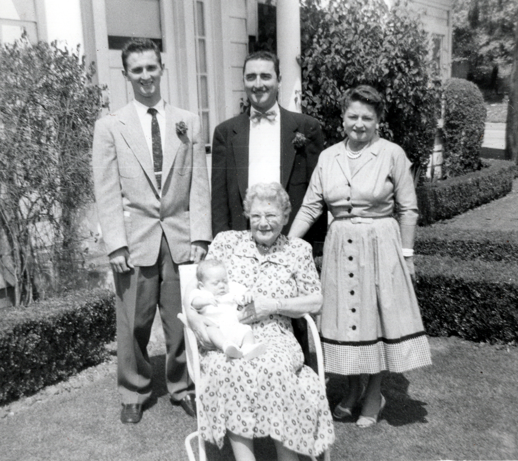 Buddy with Dad, Grandpa, Great Grandmother & Great Great Grandmother