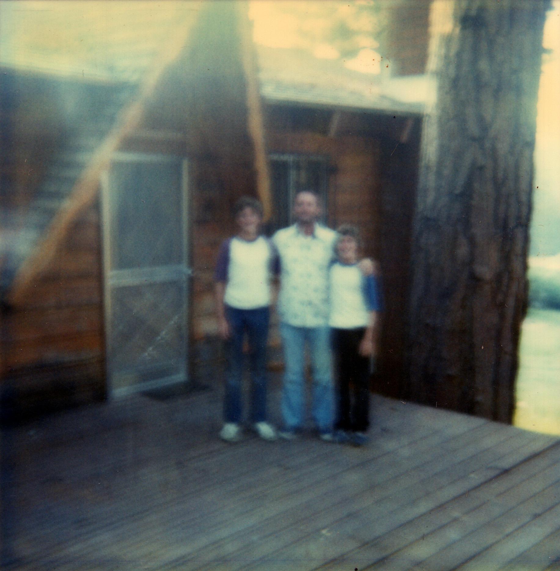 Ken, Dad, & Tom at Big Bear Cabin