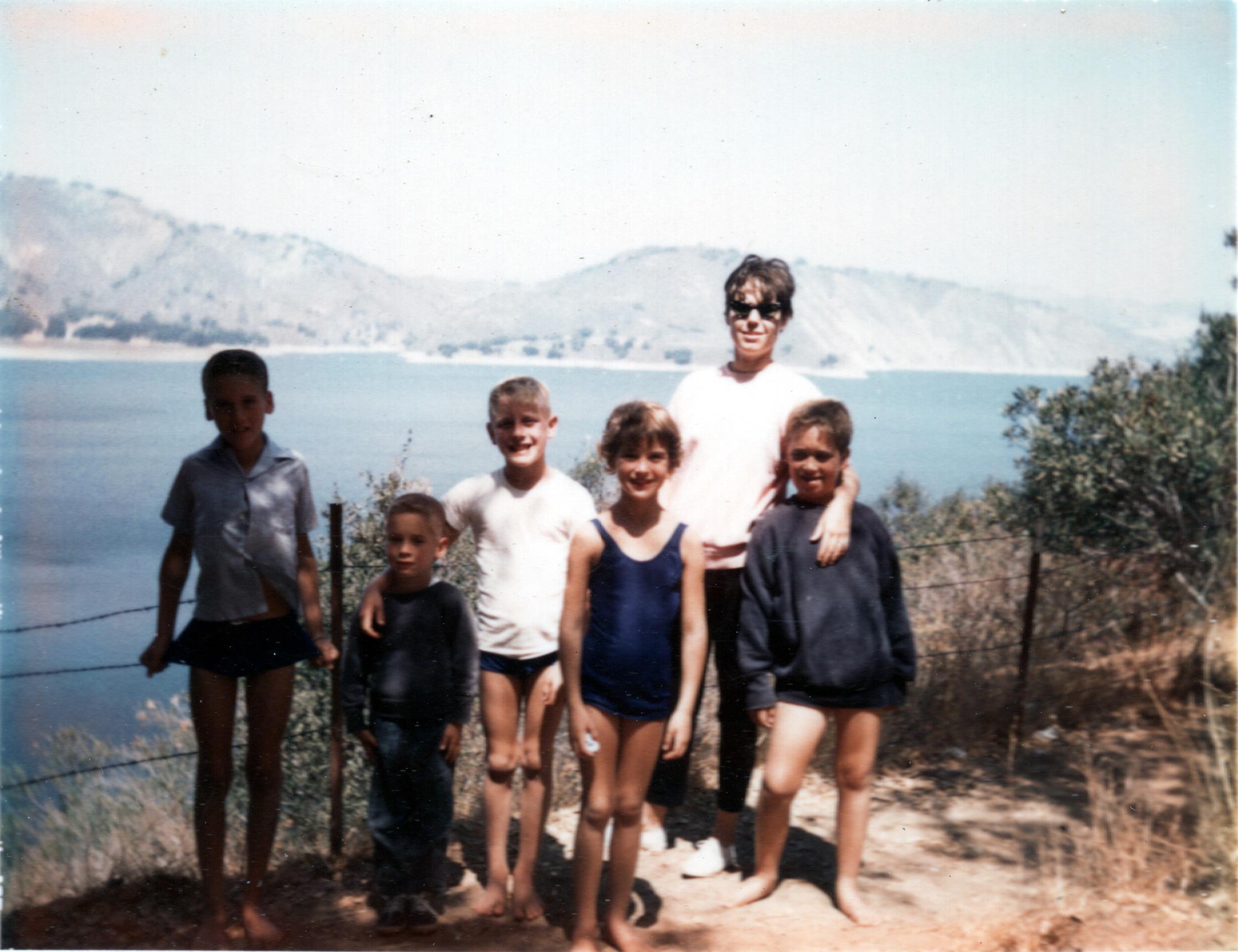 Mark, Roger, Terry, Kim, Mom & Buddy