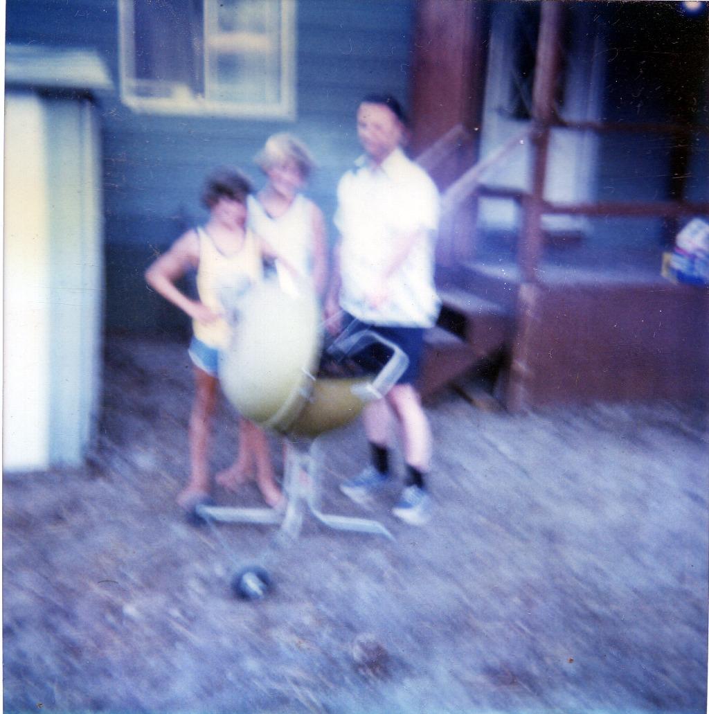 Tom, Ken & Dad Grilling