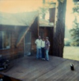 Dad, Ken & Mom at Big Bear Cabin