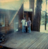 Dad, Tom & Mom at Big Bear Cabin