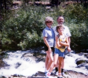 Mom, Dad & Tom at the River