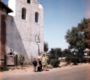 Mom & Kids at Mission 1968